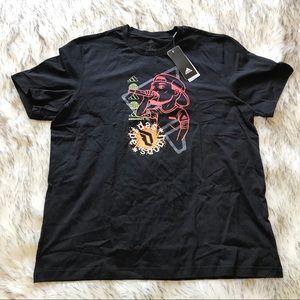 Adidas Dame Social Basketball T Shirt Black Large